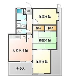 アフロス甲子園[1階]の間取り