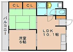 ハッピーエステートモア吉塚[2階]の間取り