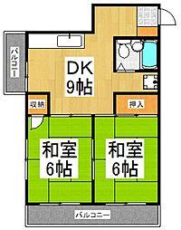 サニーハイツ大栄[3階]の間取り