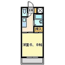 兵庫県尼崎市立花町1丁目の賃貸マンションの間取り