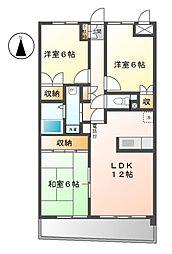 ピュア中平[4階]の間取り