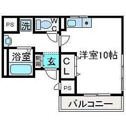 ジュネス宮田[2階]の間取り