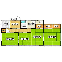 [一戸建] 茨城県土浦市中村南2丁目 の賃貸【/】の間取り