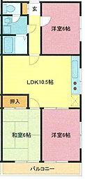 埼玉県さいたま市浦和区瀬ケ崎1丁目の賃貸アパートの間取り