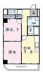 東京都練馬区大泉町3丁目の賃貸マンションの間取り