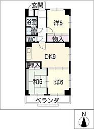 アベニュー大井[5階]の間取り