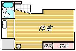 島田コーポ[3階]の間取り
