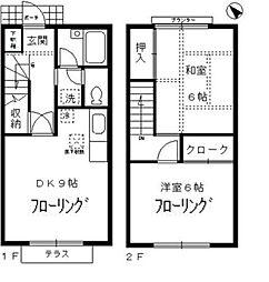 [テラスハウス] 東京都杉並区桃井4丁目 の賃貸【/】の間取り
