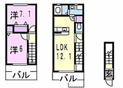 インテックスV番館[2階]の間取り