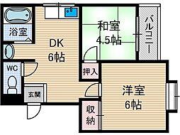 ホワイトハウス小柳[2階]の間取り