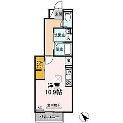 愛知県安城市大東町の賃貸アパートの間取り