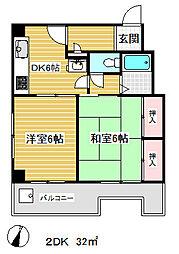 ハイツ材井[5階]の間取り