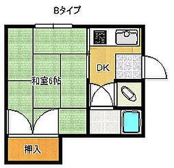 マンション11[4階]の間取り