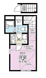 ラビアン志村[2階]の間取り