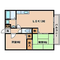 兵庫県神戸市西区玉津町水谷の賃貸アパートの間取り