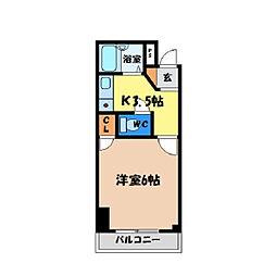 シティガーデン富田[305号室]の間取り