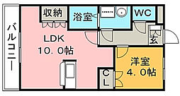 ライフキューブ[2階]の間取り