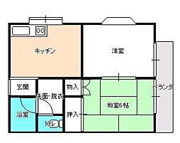 メゾン平田[203号室]の間取り