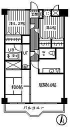ケントパレス函館[705号室]の間取り