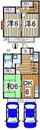 [テラスハウス] 東京都清瀬市中里2丁目 の賃貸【/】の間取り