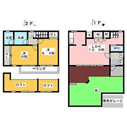 [テラスハウス] 愛知県名古屋市緑区小坂1丁目 の賃貸【/】の間取り