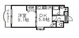 シオン北長瀬[2階]の間取り