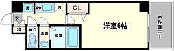 LC京橋EAST 3階1Kの間取り