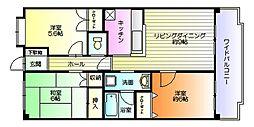 サカヤマンション松ヶ島[103号室号室]の間取り