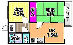 香川マンション[2階]の間取り