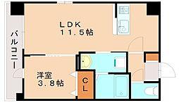 JR香椎線 伊賀駅 徒歩21分の賃貸マンション 1階1LDKの間取り