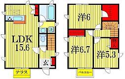 [一戸建] 千葉県船橋市滝台2丁目 の賃貸【/】の間取り