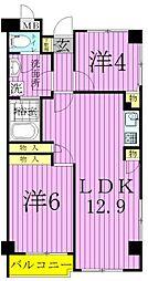 ロイヤルハイム[5階]の間取り
