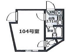 Amitie Kamata bt[104kk号室]の間取り