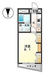 愛知県弥富市鯏浦町東前新田の賃貸マンションの間取り