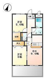 コンフォールヴィラ[1階]の間取り