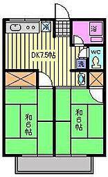 シティハイム イイダハイツ[2階]の間取り