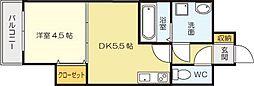 コ−トハウス中島[2階]の間取り