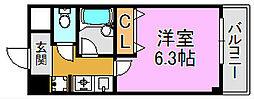 ヴィラサンシャイン 長田東3 長田8分[2階]の間取り