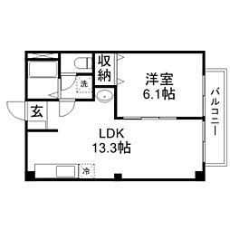 滋賀県野洲市妙光寺の賃貸アパートの間取り