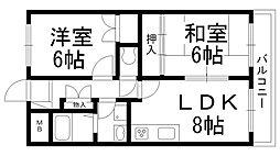 富士藤田マンション[0405号室]の間取り