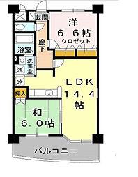 リュイール桃山台[5階]の間取り