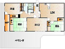 シャトーモリIII[3階]の間取り