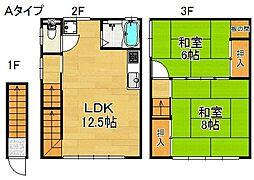 北加賀屋マンション[2階]の間取り