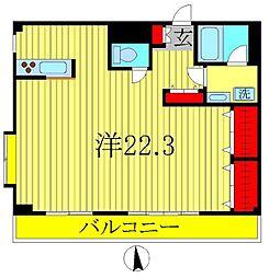 ハウスJ1[3階]の間取り