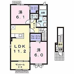 [大東建託]サン・クレメントA (三沢市)[2階]の間取り