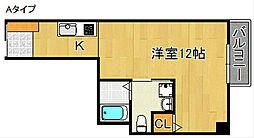 オアシスコート泉佐野[2階]の間取り