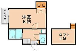 サンライズガーデン博多2[1階]の間取り