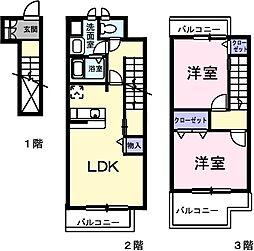 東京都小平市栄町2丁目の賃貸アパートの間取り