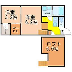 東区矢田四丁目新築デザイナーズ[2階]の間取り