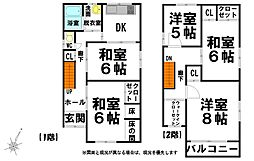 [一戸建] 高知県高知市長浜 の賃貸【/】の間取り